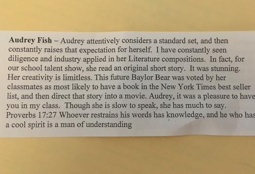 Audrey Fish CHS